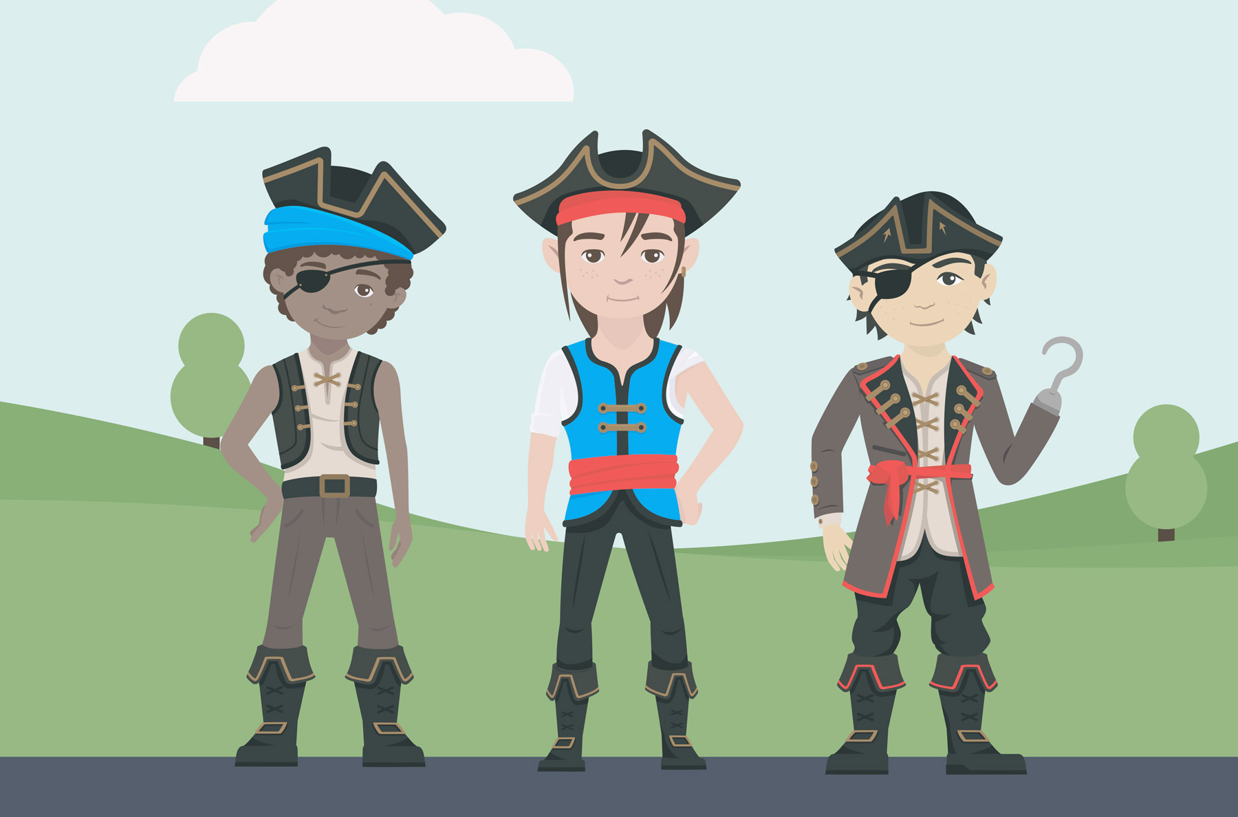 Safe Animal Squad pirate illustrations design by Sinclair Creative Agency